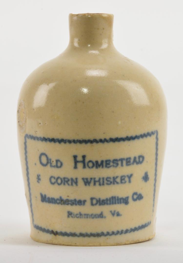 Old Homestead Corn Whiskey Manchester Richmond Va Jug