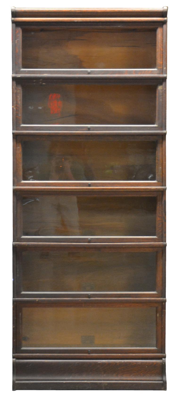 Globe Wernicke 6 Stack Oak Bookcase