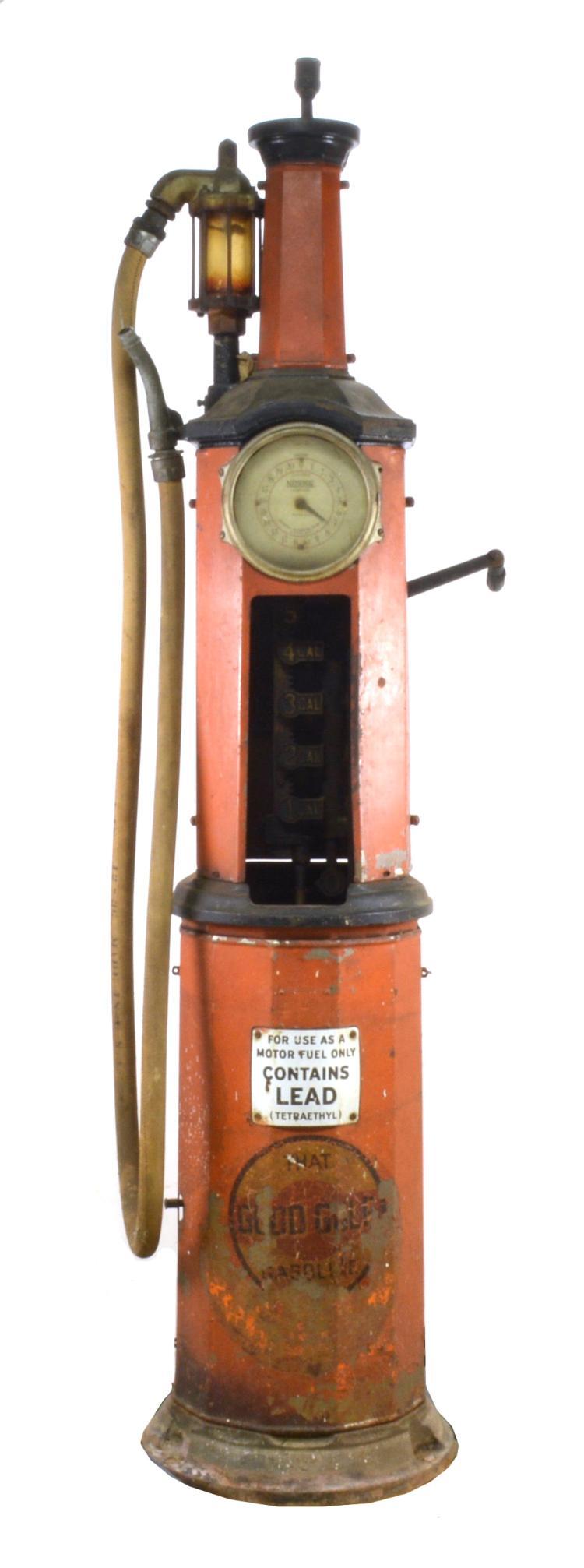 National Simplex Model 60 Clock Face Gas Pump