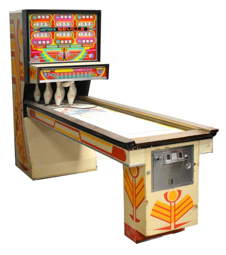 United Seville Arcade Coin Op Shuffle Alley Bowling Game