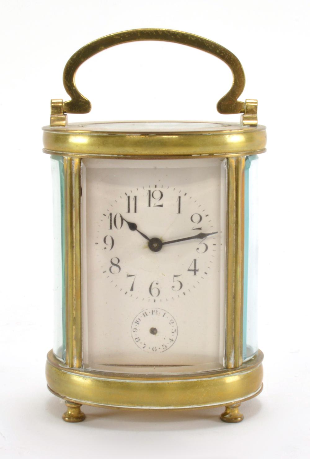 Carriage clock glass bevelling service. Bevelled glass
