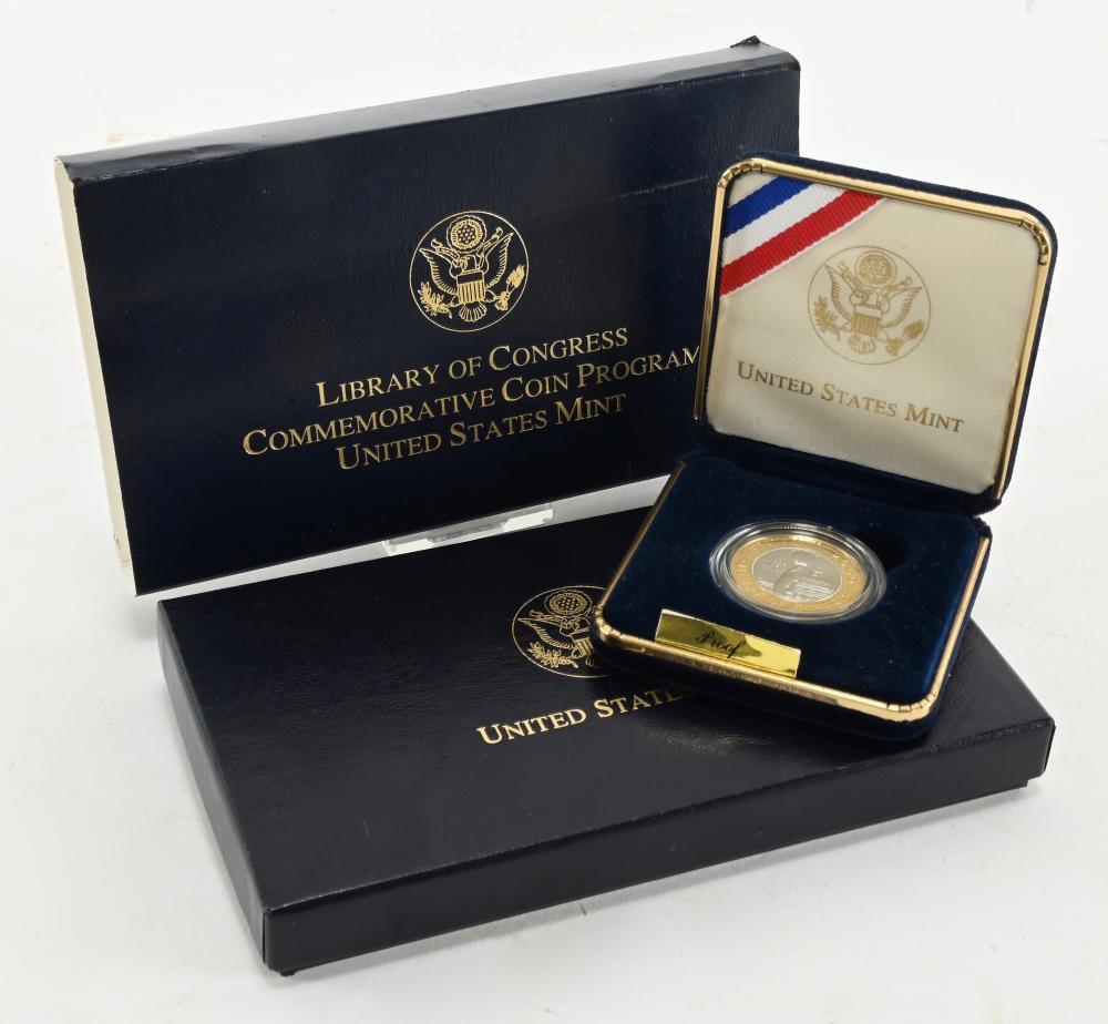 2000-W $10.00 Library Of Congress Bimetallic Proof Coin