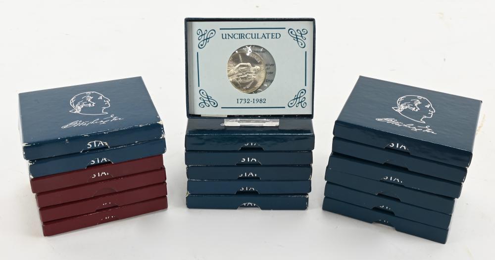(18) 1982 George Washington Silver Commemorative Half Dollars