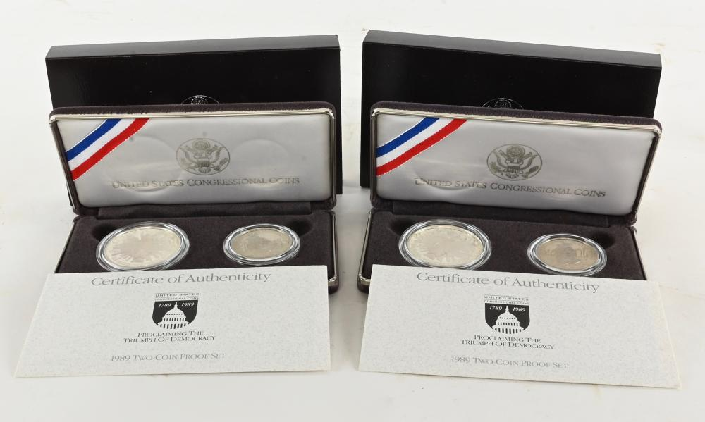 (2) Original 1989-S U.S. Two Congressional Coin Proof Sets