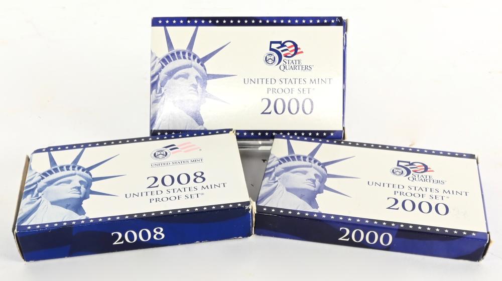 (3) Original United States Proof Sets