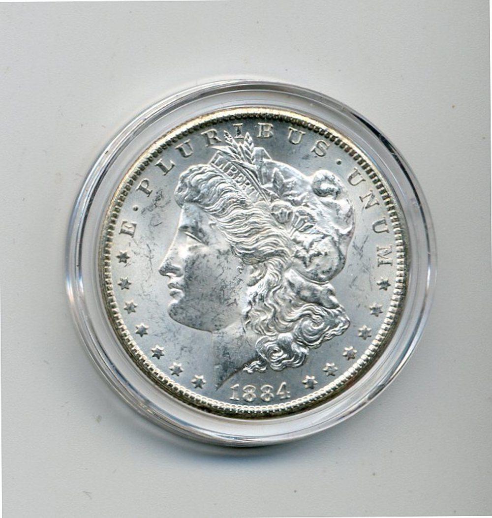 Original 1884-CC Morgan Silver Dollar