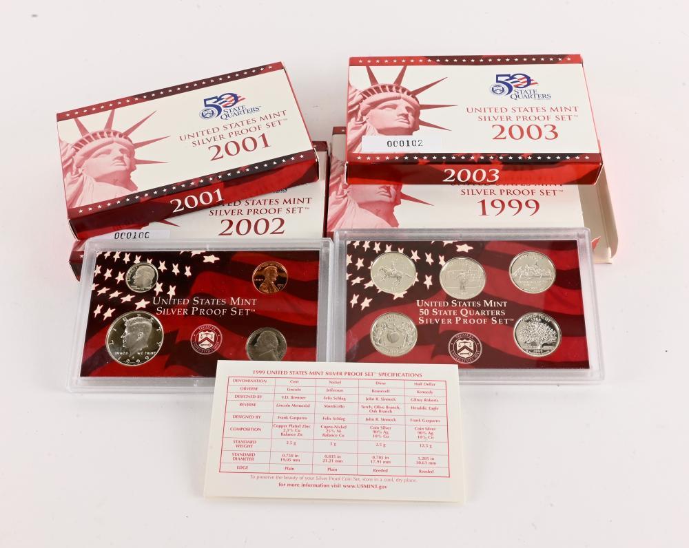 (4) Original U.S. Mint Silver Proof Sets