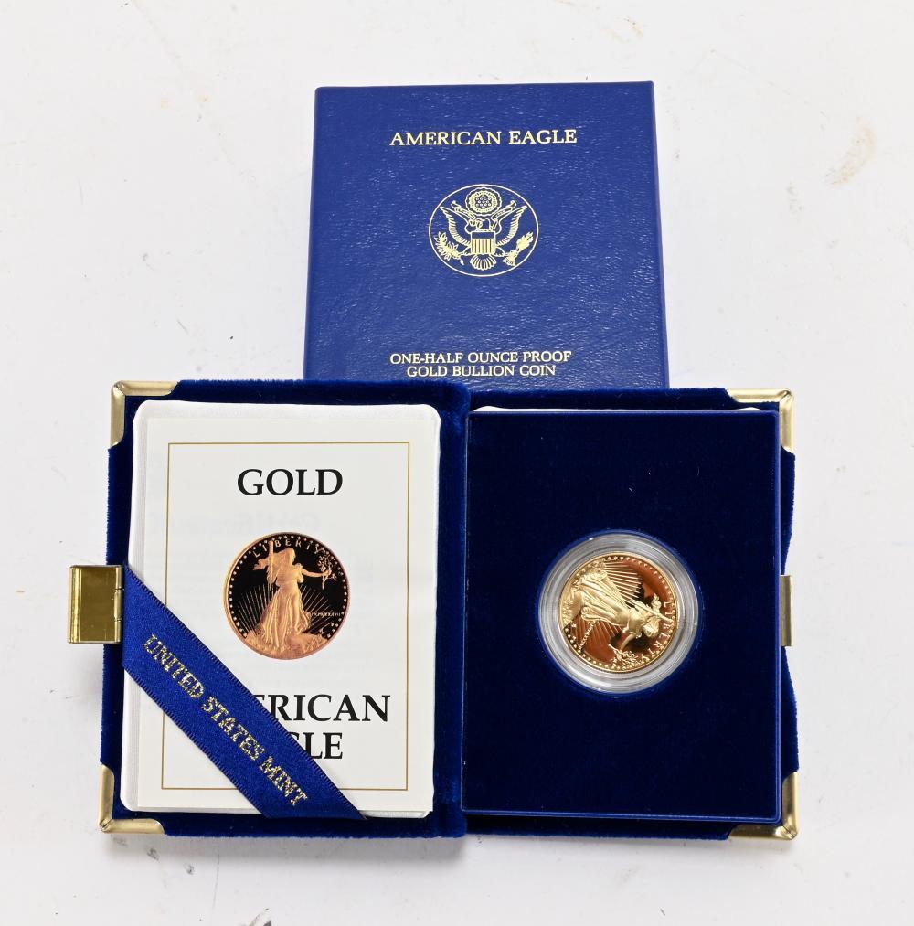 Original 1987-P $25.00 Gold American Proof Eagle