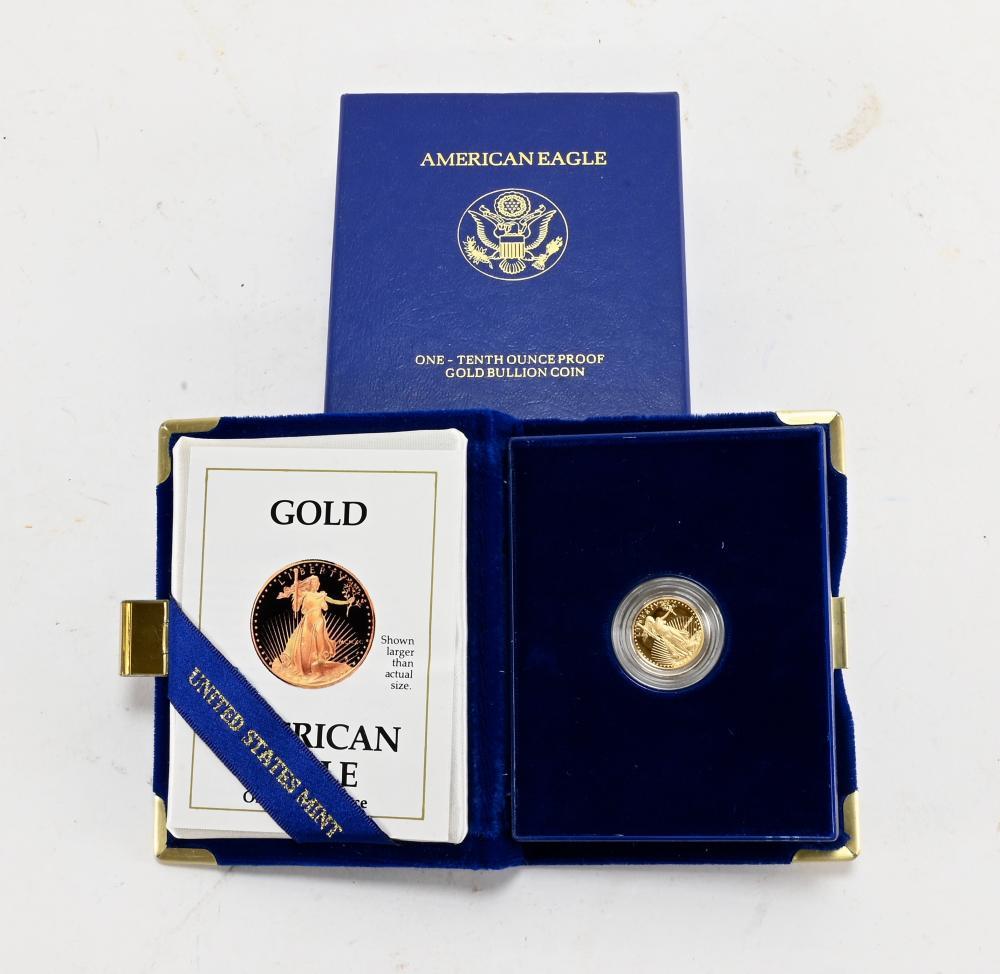 Original 1990-P $5.00 Gold American Proof Eagle