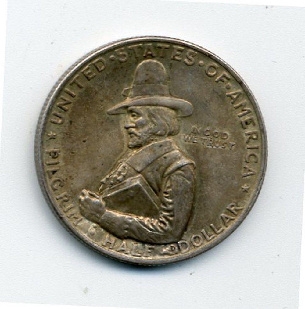 Original 1920 Pilgrim Commemorative Half Dollar