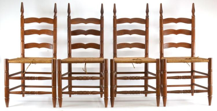 Benbow Greensboro NC Dining Room Set Of 9 Ladder Back Chairs