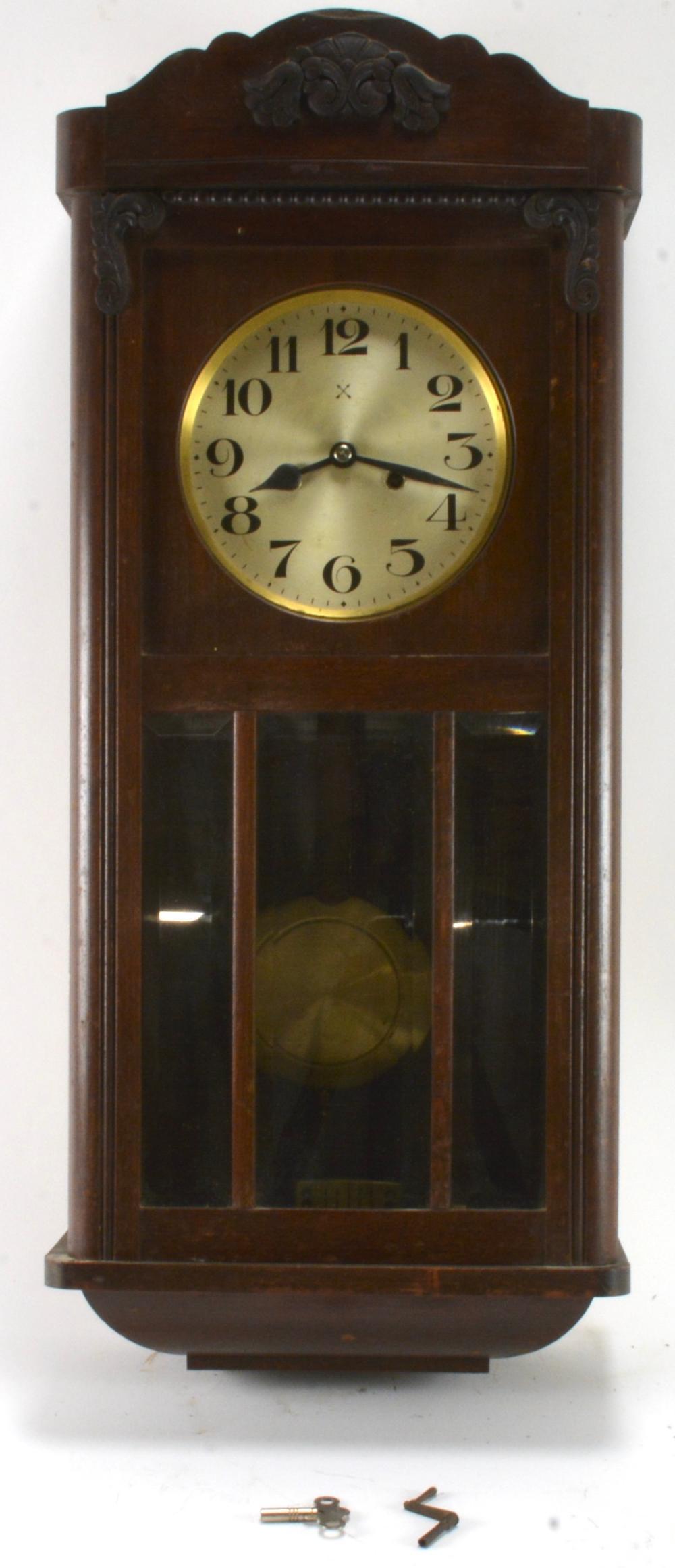 Movement hamburg american clock Antique German