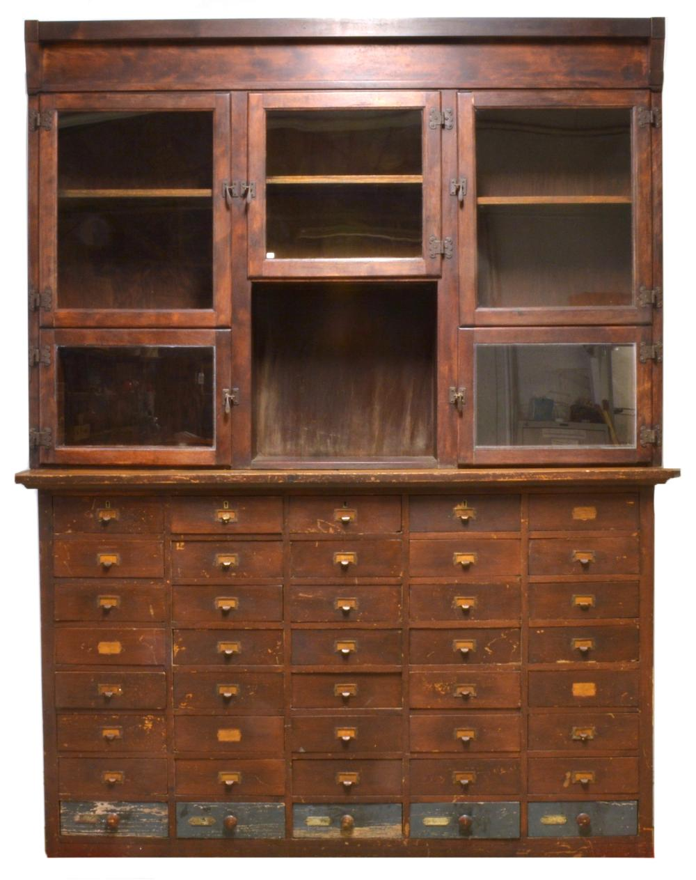 Antique Drugstore Apothecary Cabinet