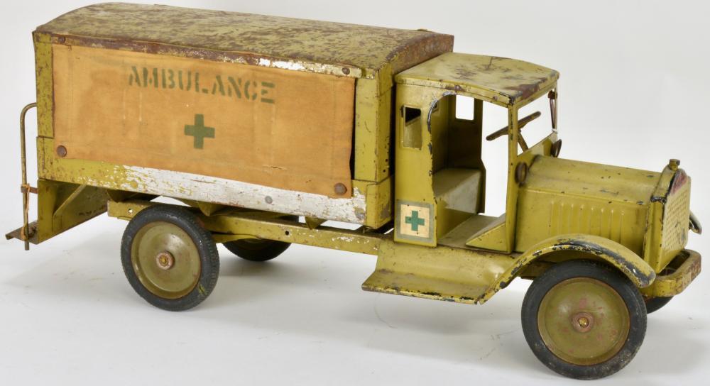 Keystone Packard Pressed Steel Ambulance Toy Truck