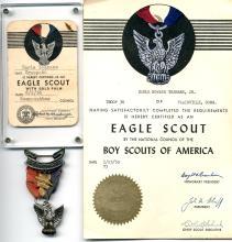 Boy Scout 1956 Eagle Scout Collection