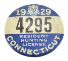 1929 Connecticut Hunting License Badge