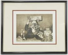 Charles Bragg Frankenstein Etching Signed
