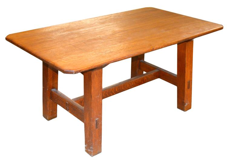 Mission Oak Arts And Crafts Dining Table