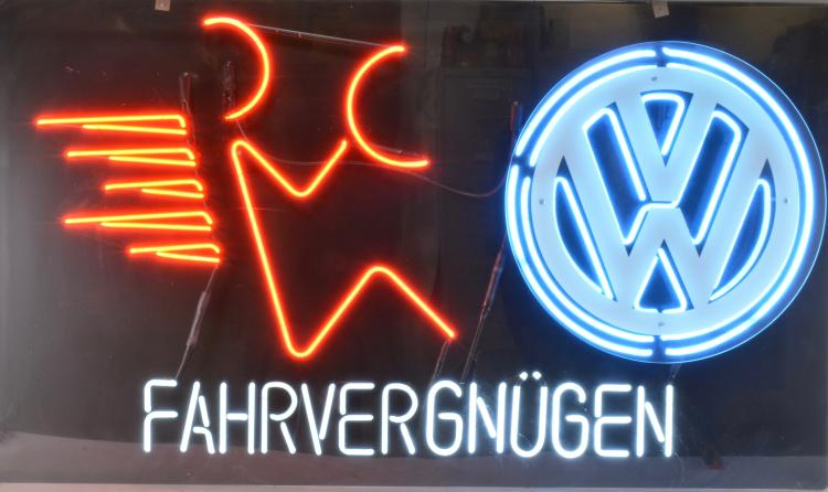 Sold Price Volkswagen Fahrvergnugen Neon Dealership Sign August 6 0116 10 00 Am Edt Images tagged with #fukengruven on instagram can't bear to actually put this bumper sticker on: volkswagen fahrvergnugen neon dealership sign