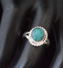 Tribal Fashion Jewelry Green Emerald Ring Size 7
