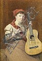 MAX LUDBY, RI (1858-1943) THE GUITARIST signed,, Max Ludby, Click for value