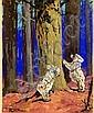 HARRY ROUNTREE (1878-1950) KOALAS signed, gouache,, Harry Rountree, Click for value