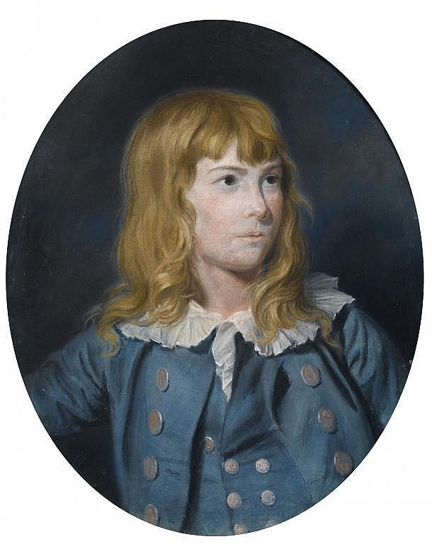 THOMAS HOLLOWAY (1749-1827) PORTRAIT OF A BOY in a