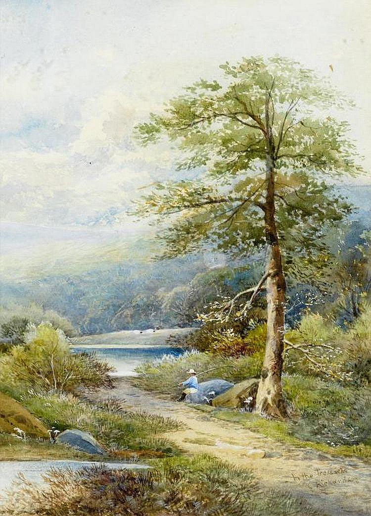 Charles Richardson (1829-1908) IN THE TROSSACHS