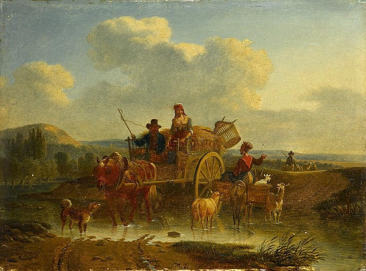 Jean-Francois Demay (1798-1850) GOING TO MARKET
