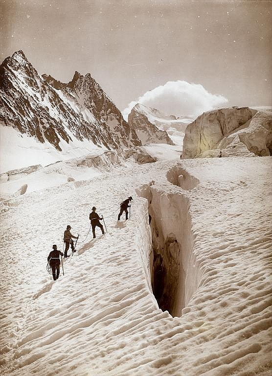 Vittorio Sella (1859-1943) Crevasse on the Glacier