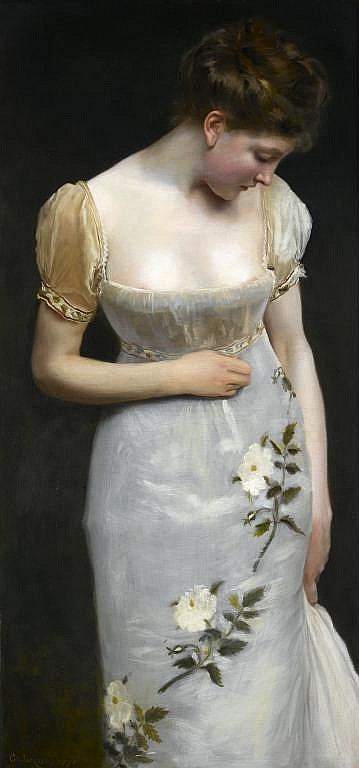 GUSTAVE JEAN JACQUET (1846-1909) MADEMOISELLE