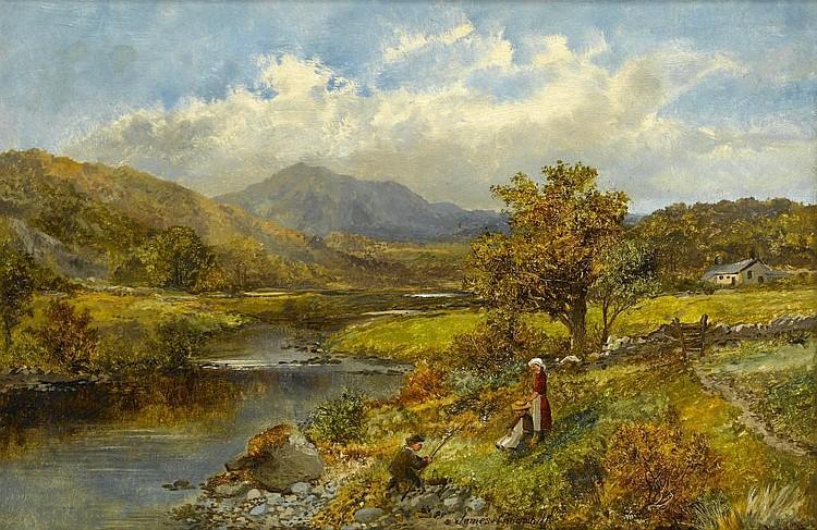 JAMES CALLOWHILL (1838-1917) MOUNTAINOUS LANDSCAPE