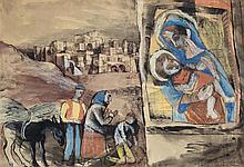 DONALD FRIEND (1915-1989) Roadside Shrine 1950