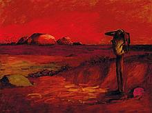 RUSSELL DRYSDALE (1912-1981) Red Landscape 1958