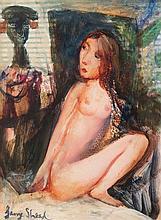 GARRY SHEAD born 1942 Untitled (Nude) c2000 oil on