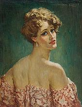NORMAN LINDSAY (1879-1969) Lady in Pink c1934 oil