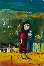 SIDNEY NOLAN (1917-1992) Untitled (Mrs. Reardon &