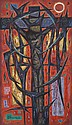 JOHN COBURN (1925-2006) Crucifixion 1959 oil on