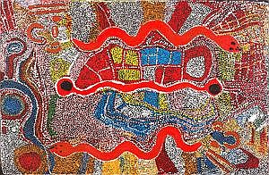 JIMMY DONEGAN, (born c1940), Pukara, synthetic