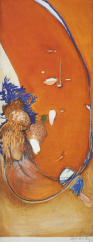 BRETT WHITELEY (1939-1992)  Little Orange (Sunset)