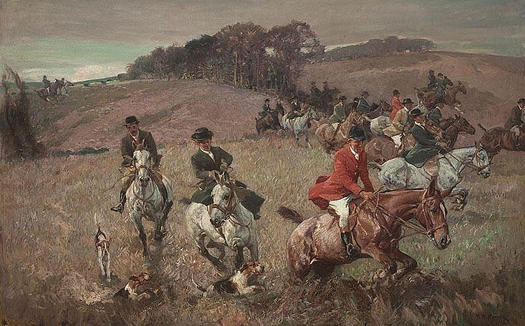 H. SEPTIMUS POWER (1878-1951)  A Fox Hunt in the Midlands