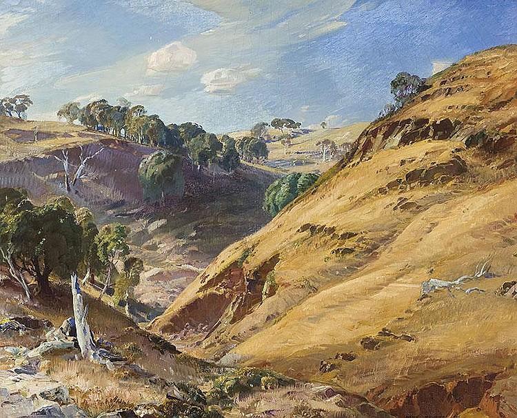 HANS HEYSEN (1877-1968)  The Hillside, Glen Osmond