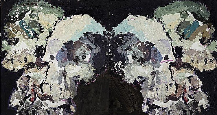 BEN QUILTY born 1973 Six Skulls
