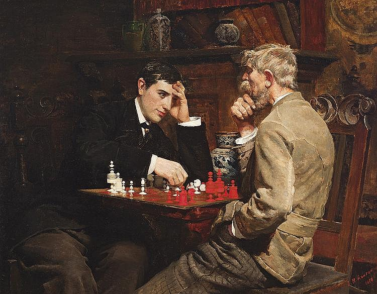 JULIAN ASHTON (1851-1942) Checkmate