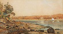 JULIAN ASHTON (1851-1942), Residence, Sydney Harbour 1885