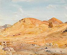 HANS HEYSEN (1877-1968)  Sunparched Hills, Flinders Ranges 1930