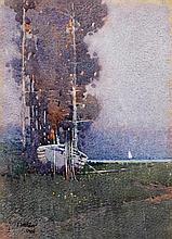 J.J. HILDER (1881-1916)  Old Boat 1906