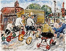 DANILA VASSILIEFF (1897-1958)  Soap Box Derby 1938