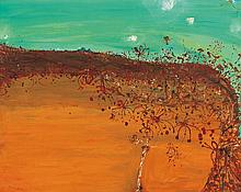 JOHN OLSEN born 1928  Grevilleas and Tableland c1981-82