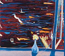 BRETT WHITELEY (1939-1992)  Westerly with Daisies (View of Lavender Bay) 1974